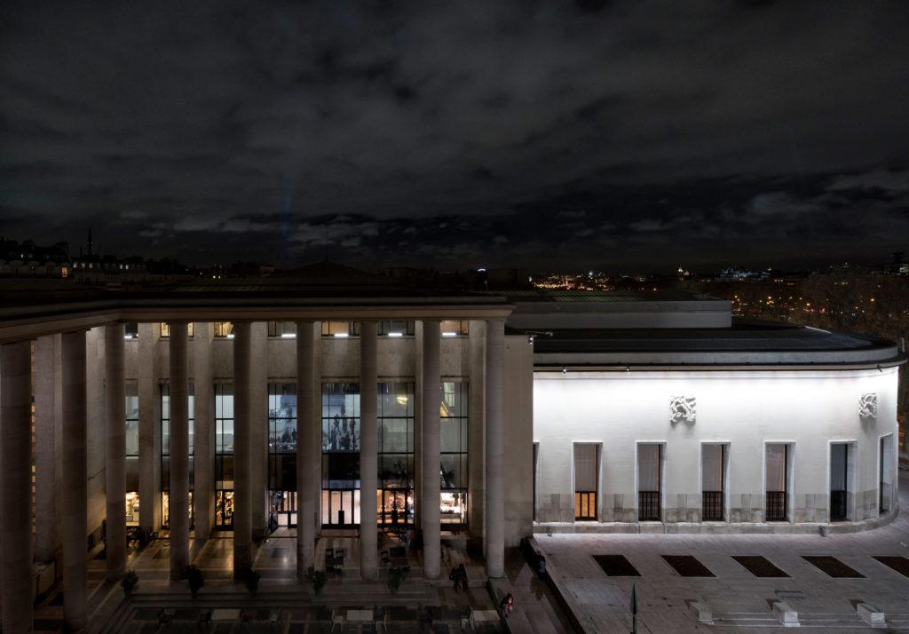 Eclairage extérieur - Paris, Musée d'Art Moderne. © Crédit Raphael Chipault